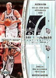 2002-03 Upper Deck Honor Roll Dual Jerseys #JKKM Jason Kidd/Kenyon Martin