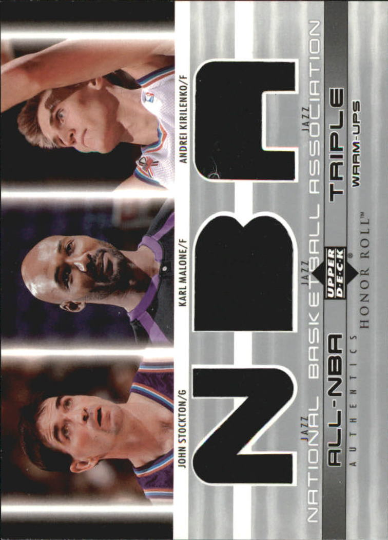 2002-03 Upper Deck Honor Roll Triple Warm-ups #5 John Stockton/Karl Malone/Andrei Kirilenko