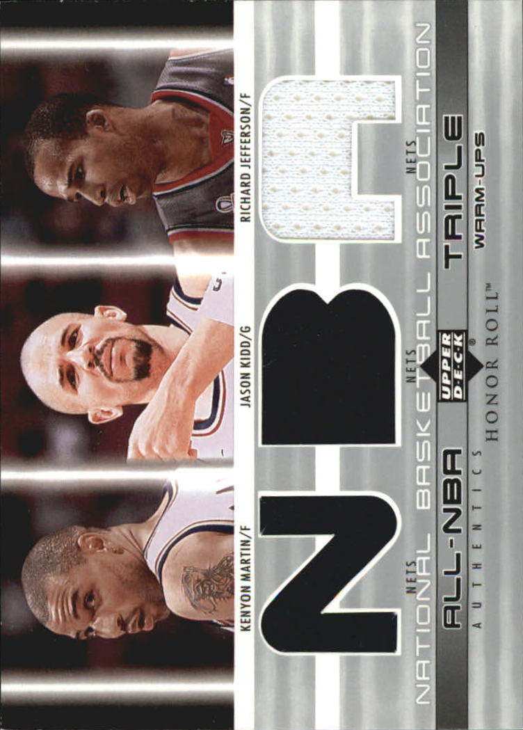 2002-03 Upper Deck Honor Roll Triple Warm-ups #6 Kenyon Martin/Jason Kidd/Richard Jefferson