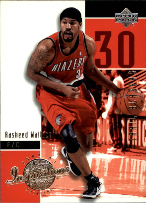 2002-03 Upper Deck Inspirations #68 Rasheed Wallace