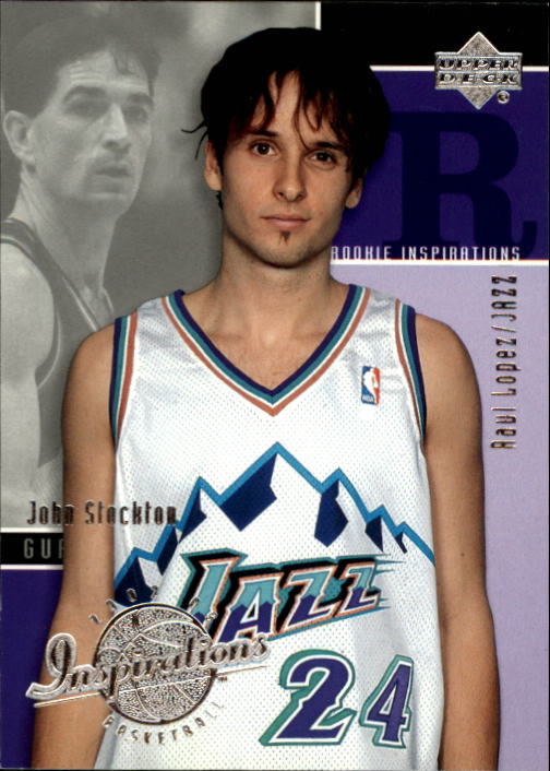 2002-03 Upper Deck Inspirations #101 Raul Lopez RC/John Stockton