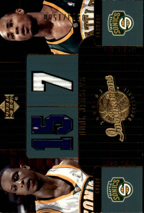 2002-03 Upper Deck Inspirations #120 Ronald Murray JSY RC/Rashard Lewis JSY
