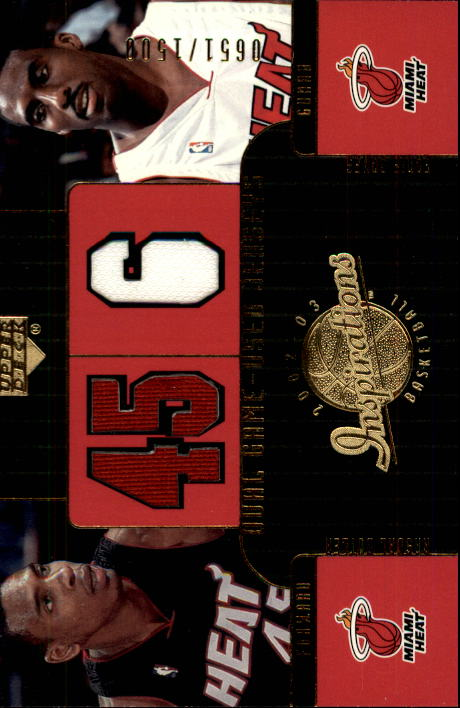 2002-03 Upper Deck Inspirations #122 Rasual Butler JSY RC/Eddie Jones JSY