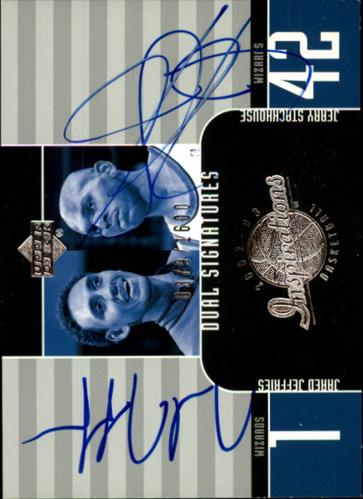 2002-03 Upper Deck Inspirations #134 Jared Jeffries AU RC/Jerry Stackhouse AU