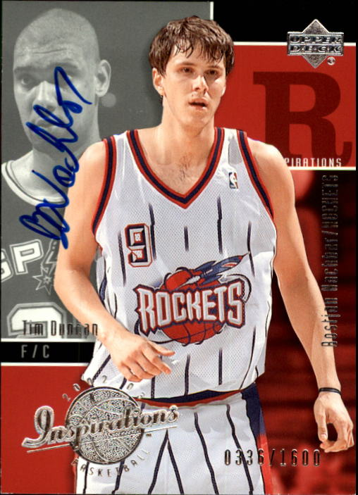 2002-03 Upper Deck Inspirations #144 Bostijan Nachbar AU RC/Tim Duncan