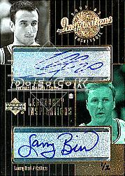 2002-03 Upper Deck Inspirations #153 Larry Bird AU/Manu Ginobili AU