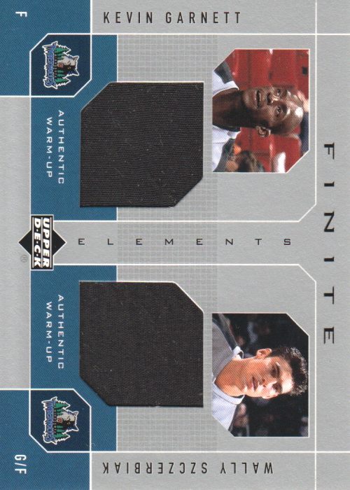 2002-03 Upper Deck Finite Elements Dual Warm-Ups #KGWS Kevin Garnett/Wally Szczerbiak