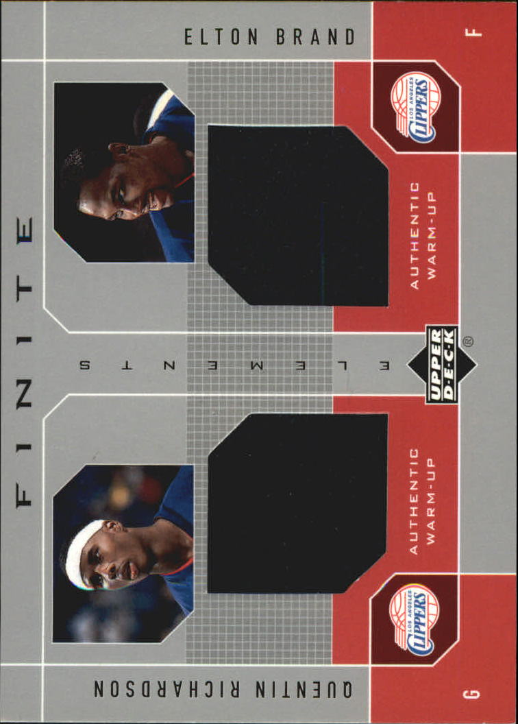 2002-03 Upper Deck Finite Elements Dual Warm-Ups #QREB Quentin Richardson/Elton Brand