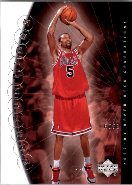 2002-03 Upper Deck Generations #4 Jalen Rose