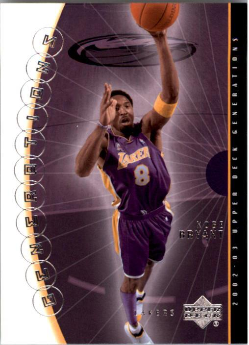 2002-03 Upper Deck Generations #20 Kobe Bryant