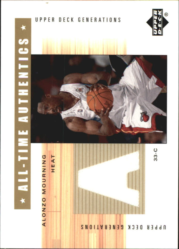 2002-03 Upper Deck Generations All-Time Authentics #AMA Alonzo Mourning