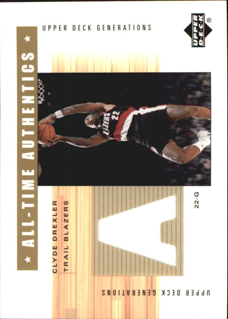 2002-03 Upper Deck Generations All-Time Authentics #CDA Clyde Drexler
