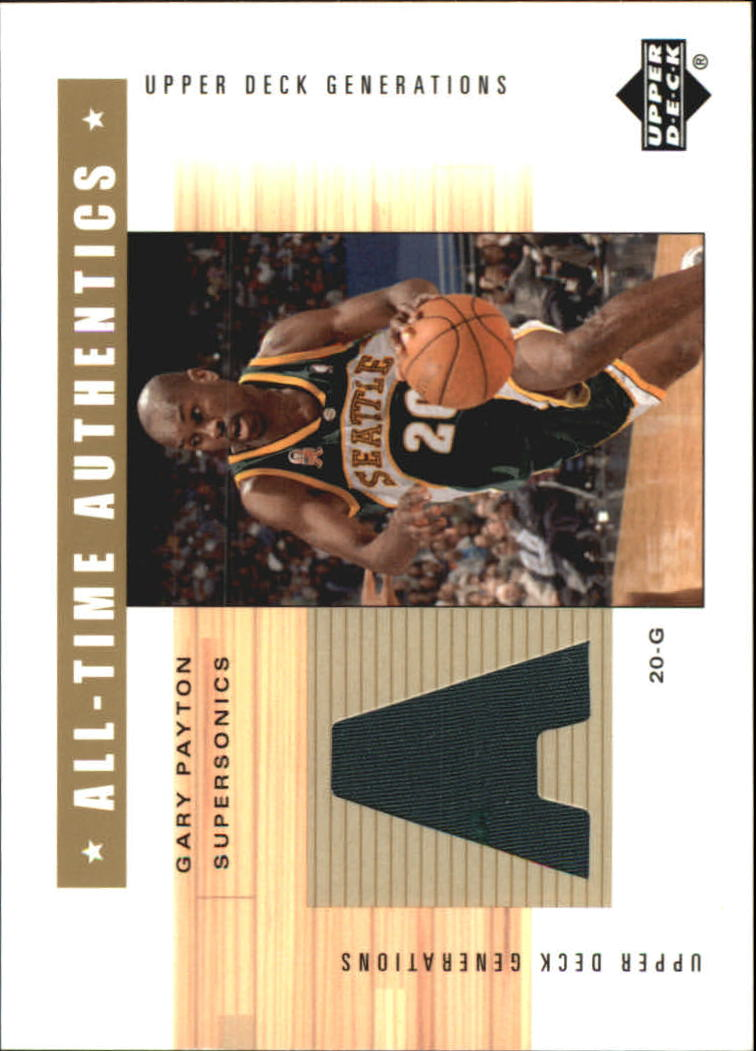 2002-03 Upper Deck Generations All-Time Authentics #GPA Gary Payton