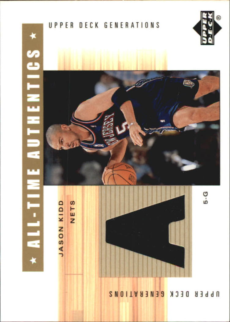 2002-03 Upper Deck Generations All-Time Authentics #JKA Jason Kidd
