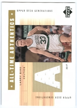 2002-03 Upper Deck Generations All-Time Authentics #LBA Larry Bird