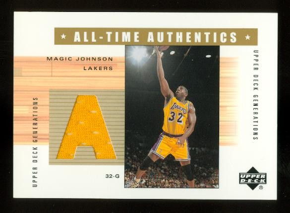 2002-03 Upper Deck Generations All-Time Authentics #MGA Magic Johnson Yellow