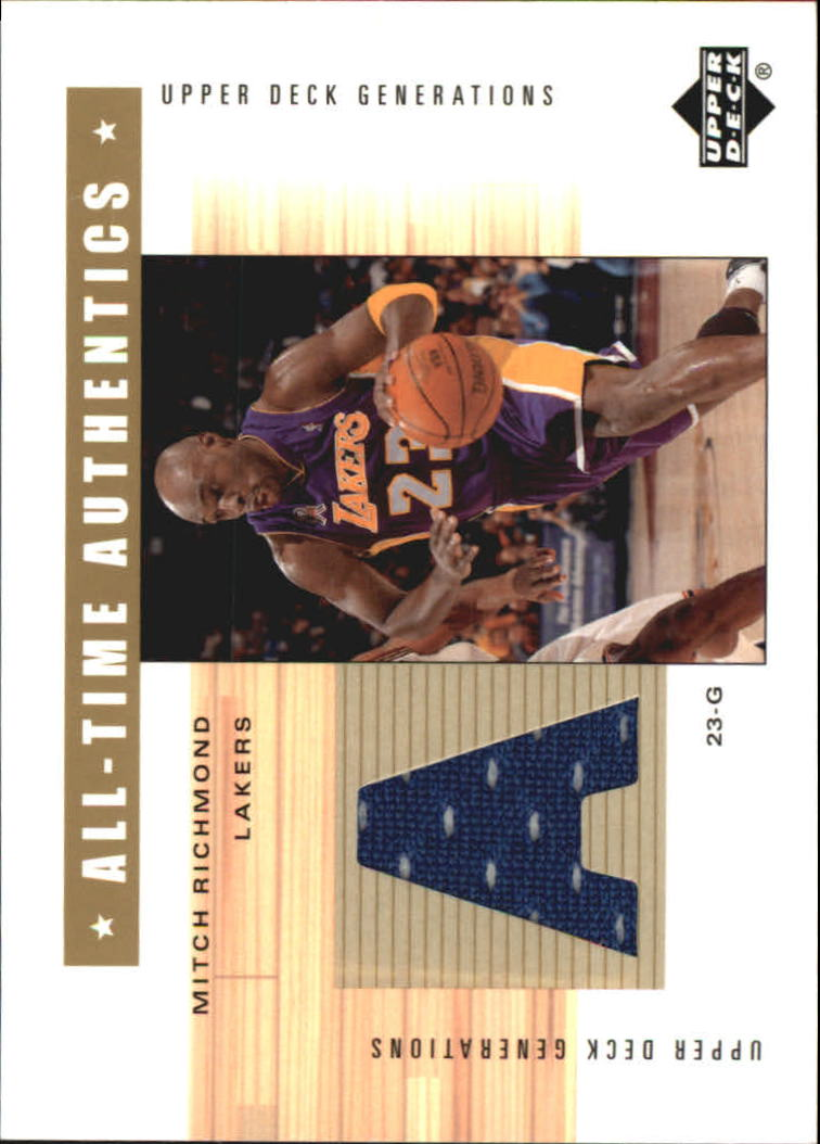 2002-03 Upper Deck Generations All-Time Authentics #MRA Mitch Richmond