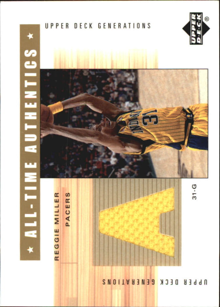 2002-03 Upper Deck Generations All-Time Authentics #RMA Reggie Miller