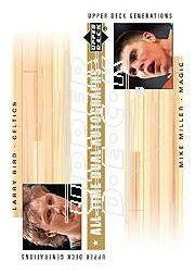 2002-03 Upper Deck Generations All-Time Dual Autographs #LB/MM Larry Bird/Mike Miller