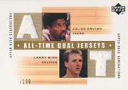 2002-03 Upper Deck Generations All-Time Dual Jerseys #JELBJ Julius Erving/Larry Bird
