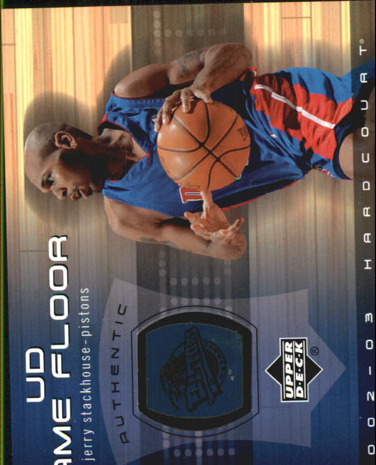 2002-03 Upper Deck Hardcourt UD Game Floor #JSF Jerry Stackhouse
