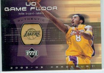 2002-03 Upper Deck Hardcourt UD Game Floor #KBF Kobe Bryant