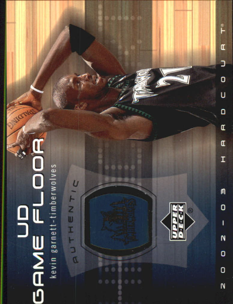 2002-03 Upper Deck Hardcourt UD Game Floor #KGF Kevin Garnett