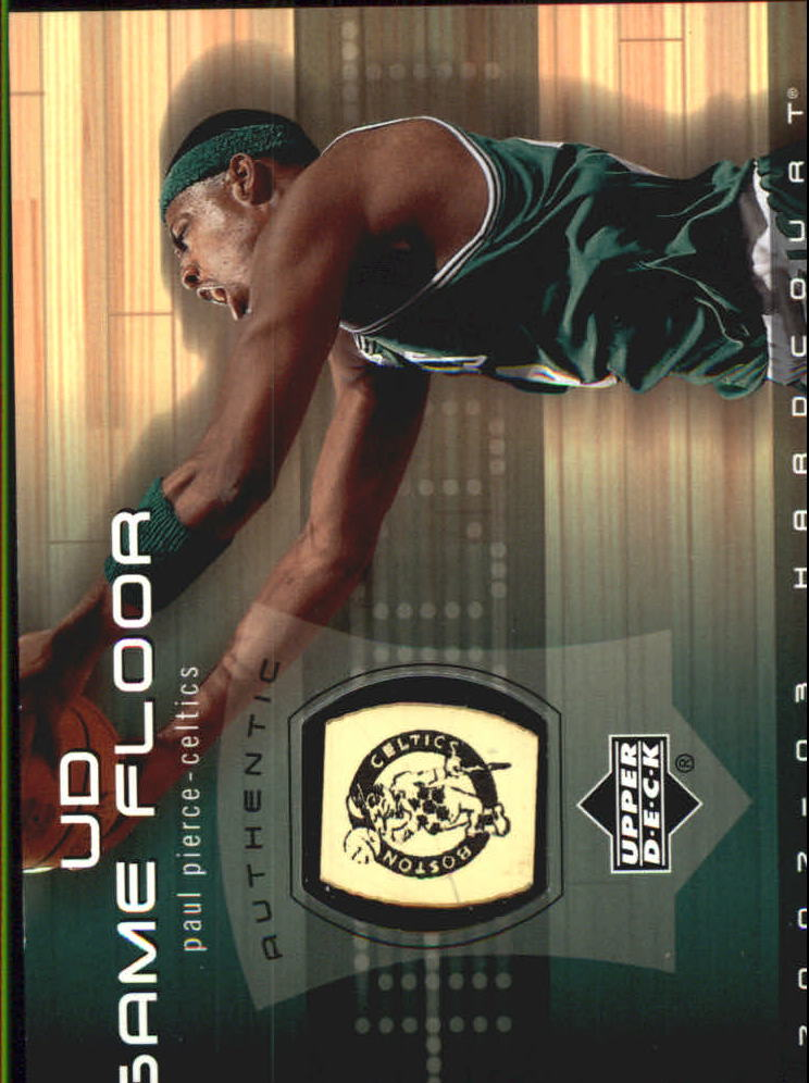 2002-03 Upper Deck Hardcourt UD Game Floor #PPF Paul Pierce