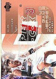 2002-03 Upper Deck UD Game Jerseys Patch Numbers 1 #AIP Allen Iverson