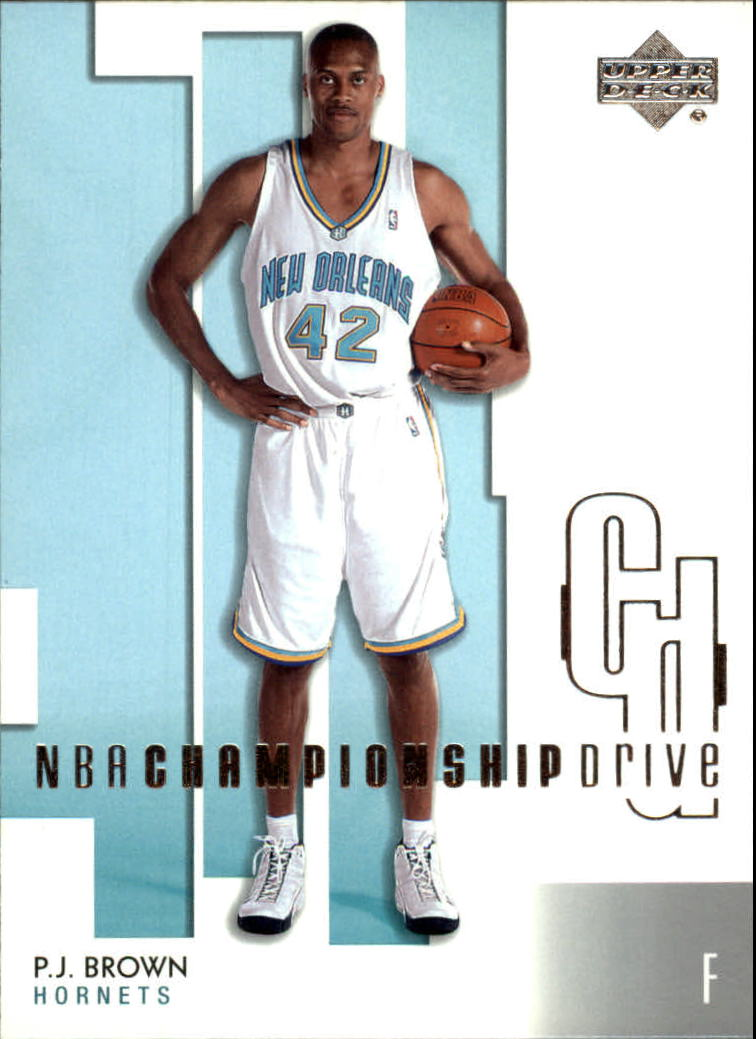 2002-03 Upper Deck Championship Drive #60 P.J. Brown