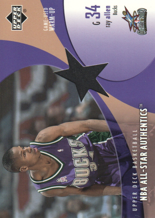 2002-03 Upper Deck All-Star Authentics Warm-Ups #RAAW Ray Allen