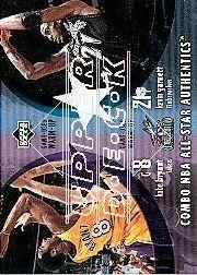 2002-03 Upper Deck Combo All-Star Authentics #KBKG Kevin Garnett/Kobe Bryant