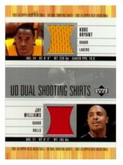 2002-03 Upper Deck Dual Shooting Shirts #KBJWS Kobe Bryant/Jay Williams