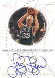2002-03 Ultimate Collection Signatures Gold #LBS Larry Bird/33