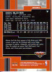 2002-03 Ultra #7 Dion Glover back image