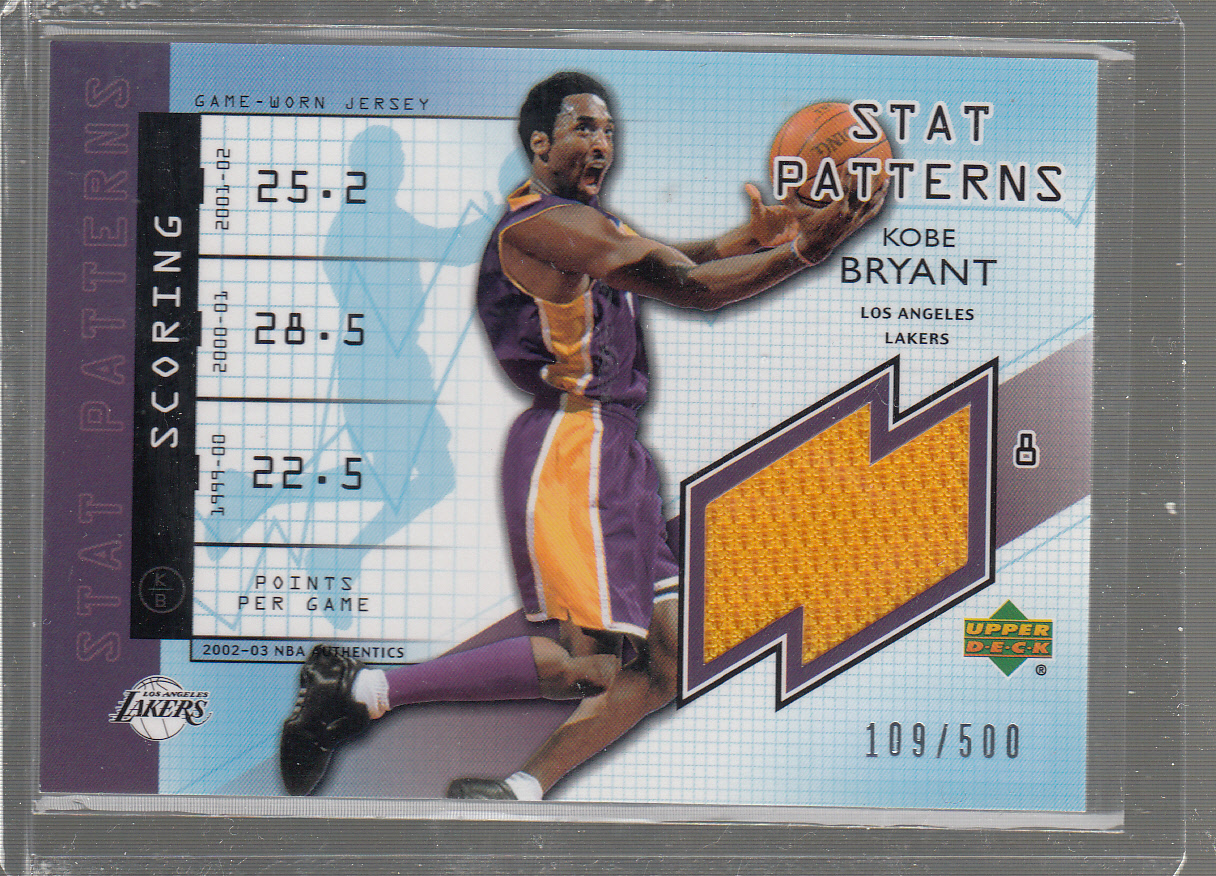2002-03 UD Authentics Stat Patterns #KBS Kobe Bryant