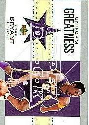 2002-03 UD Authentics Uniform Greatness #KBU Kobe Bryant