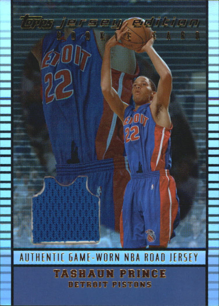 2002-03 Topps Jersey Edition #JETPR Tayshaun Prince R RC