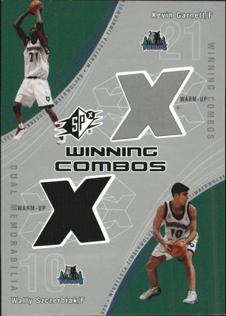 2002-03 SPx Winning Combos #KGWS Kevin Garnett/Wally Szczerbiak