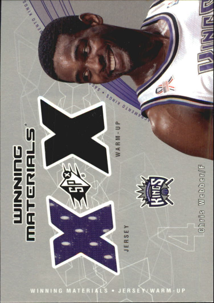 2002-03 SPx Winning Materials #CWW Chris Webber JSY/WU