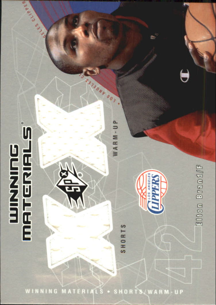 2002-03 SPx Winning Materials #EBW Elton Brand Shorts/WU