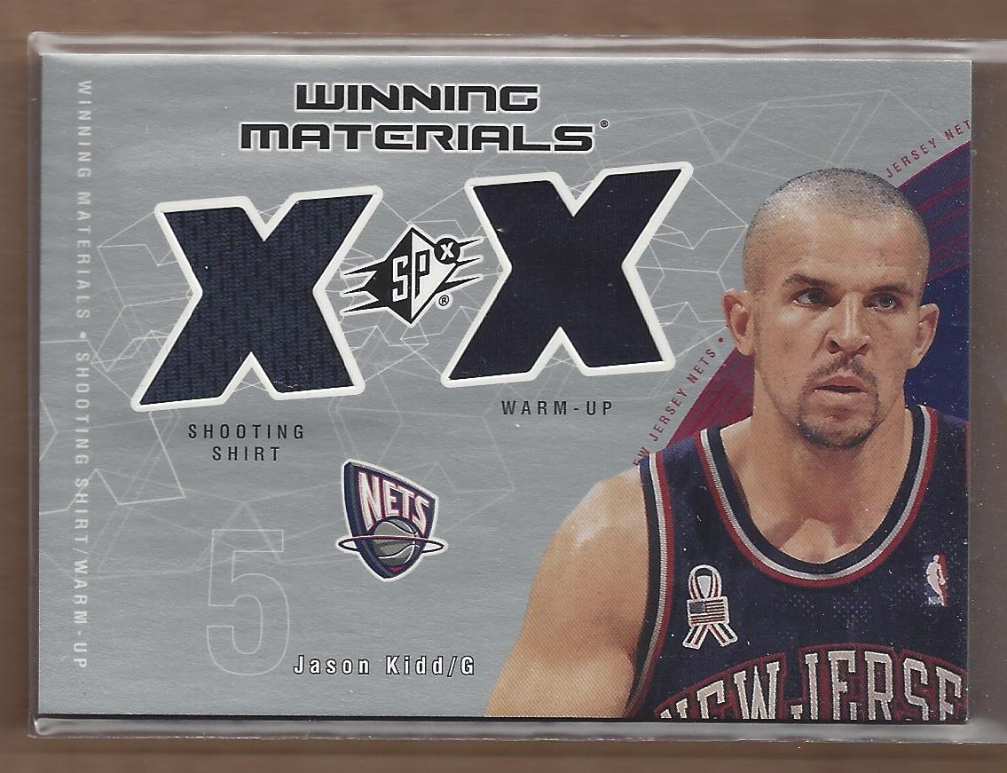 2002-03 SPx Winning Materials #JKW Jason Kidd Shirt/WU