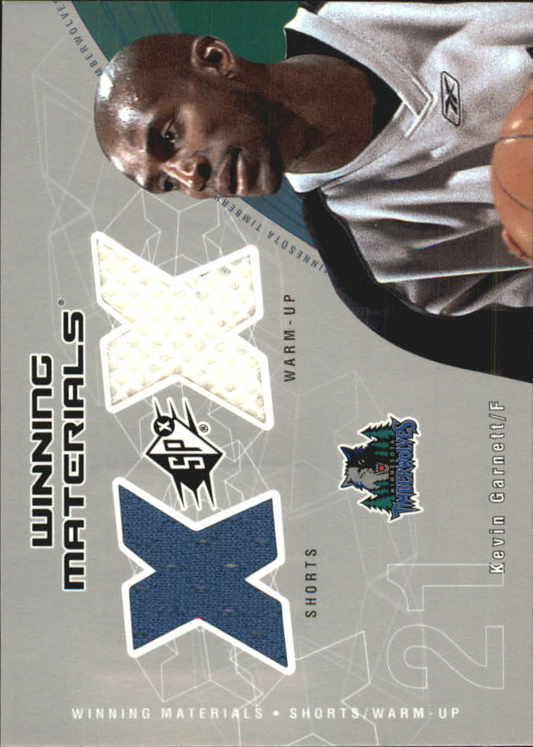 2002-03 SPx Winning Materials #KGW Kevin Garnett Shorts/WU