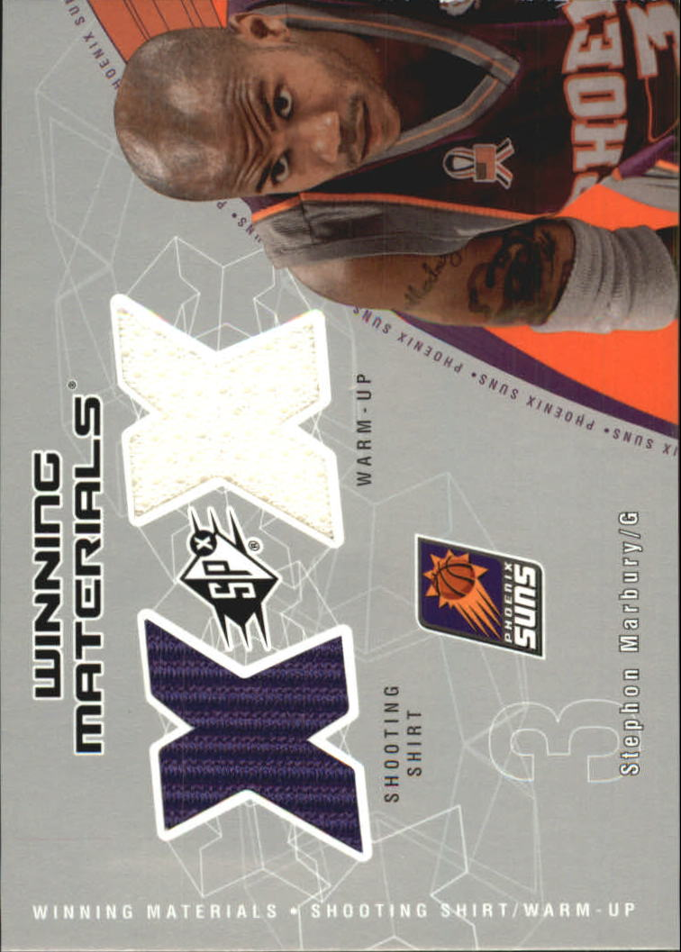2002-03 SPx Winning Materials #SMW Stephon Marbury Shirt/WU