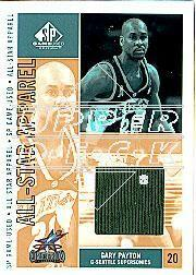 2002-03 SP Game Used All-Star Apparel Gold #GPAS Gary Payton
