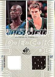 2002-03 SP Game Used Authentic Fabrics Dual #KGWSJ Kevin Garnett/Wally Szczerbiak