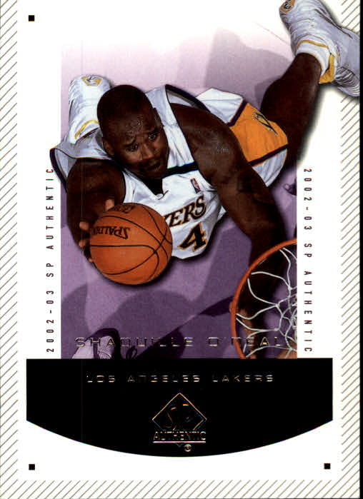 2002-03 SP Authentic #38 Shaquille O'Neal