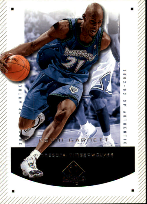 2002-03 SP Authentic #48 Kevin Garnett