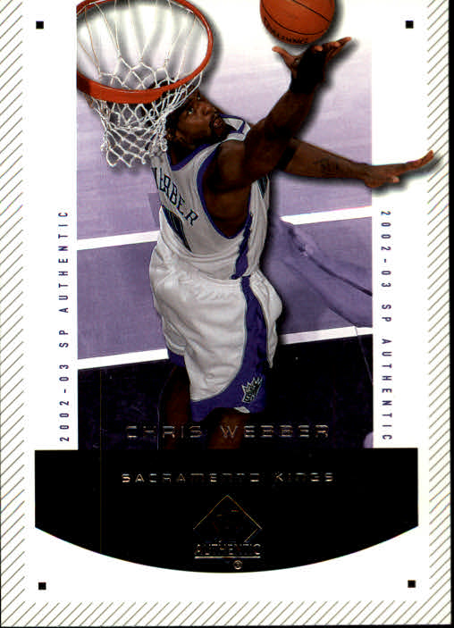 2002-03 SP Authentic #77 Chris Webber