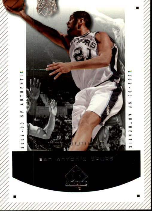 2002-03 SP Authentic #82 Tim Duncan